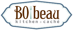 Bobeau kitchen + cache Logo