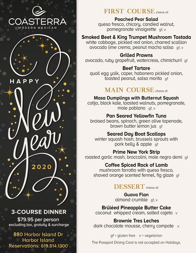 coasterra s new year s eve cohn restaurant group cohn restaurant group