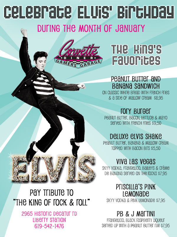Celebrate Elvis Birthday At Corvette Diner Cohn
