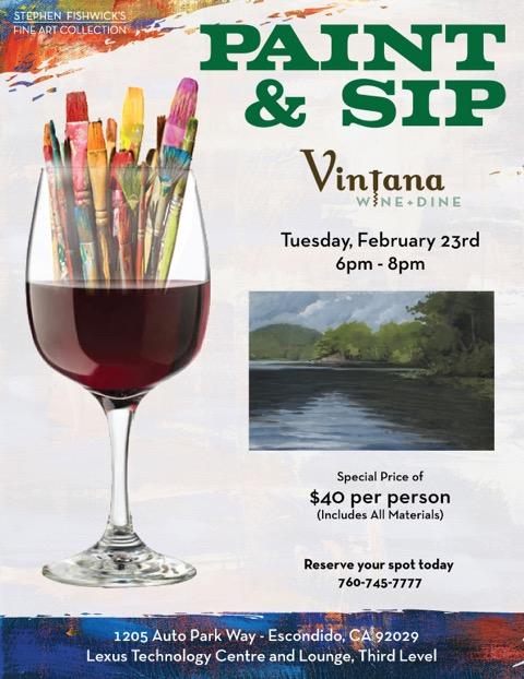 Paint Amp Sip Series At Vintana Next Class February 23rd