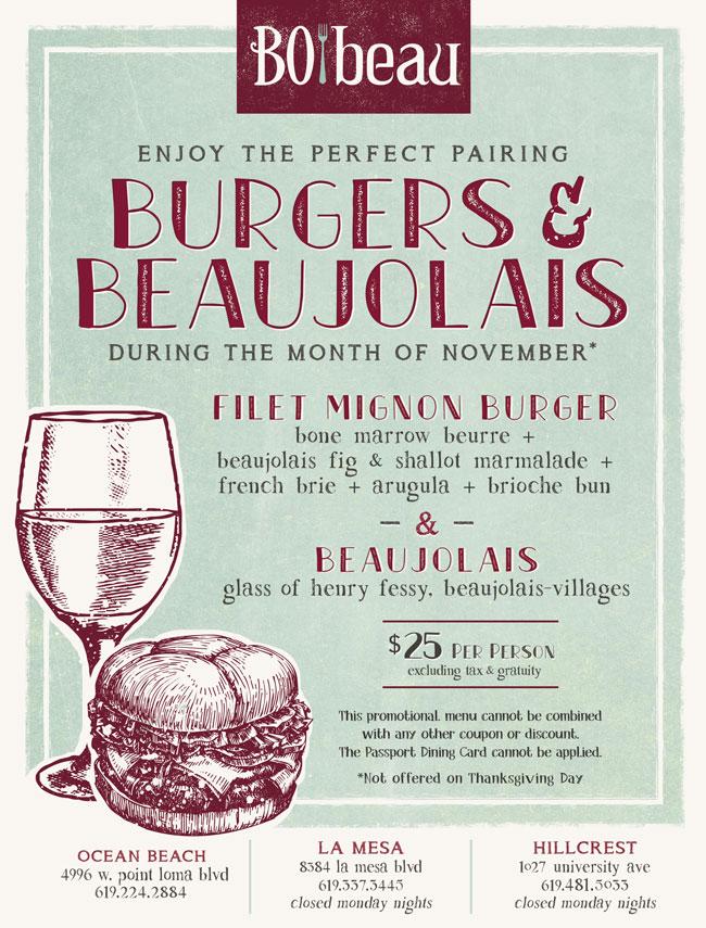 Burgers Beaujolais At Bo Beau Cohn Restaurant Group