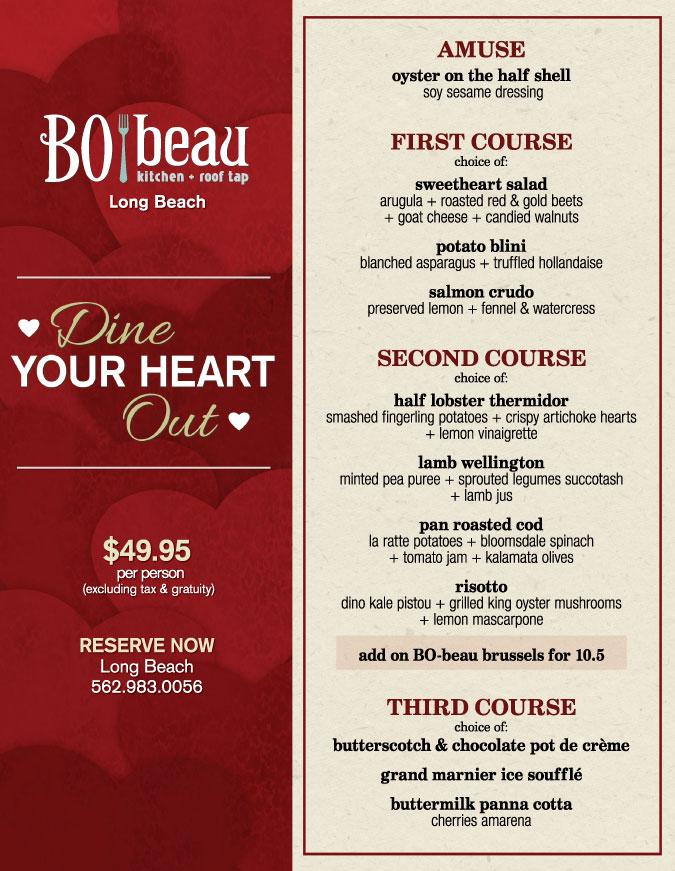 Bo Beau Kitchen Garden Valentine S Menu