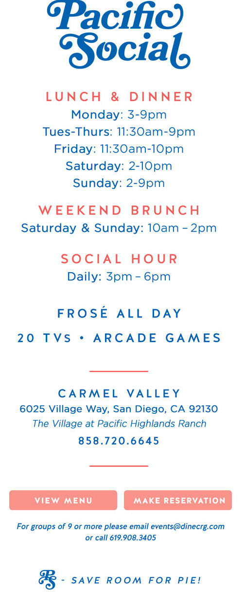 Pacific Social Now Open