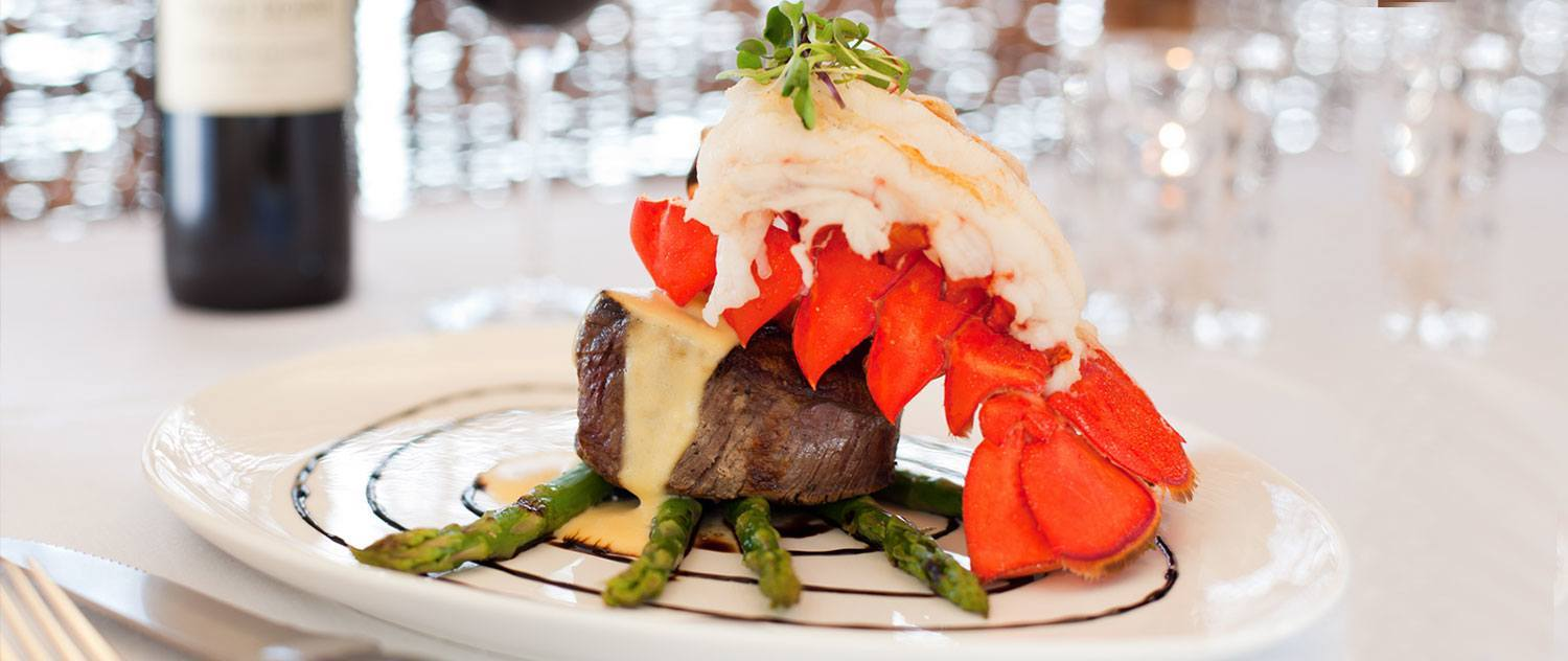 steak and lobster entree