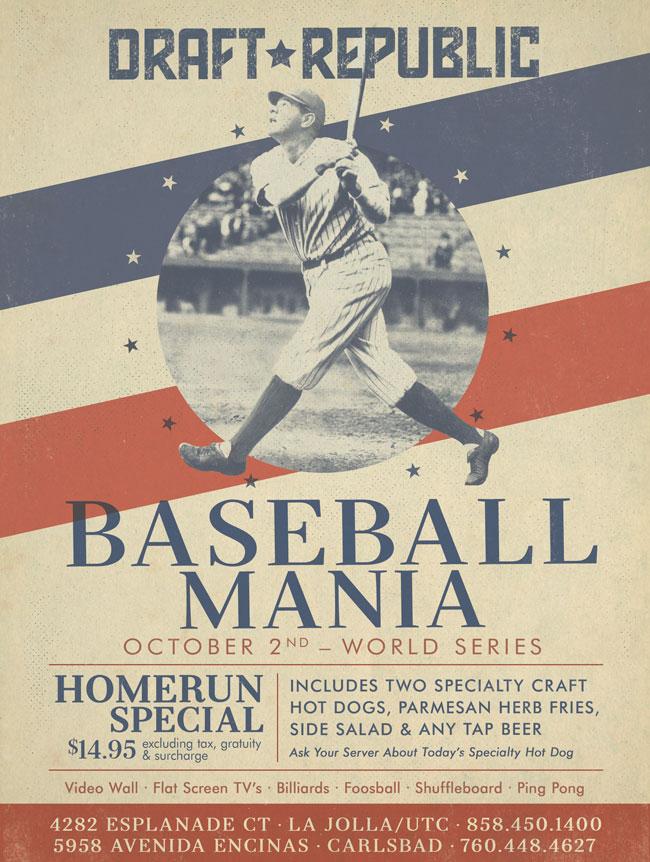 Baseball Mania Hits Draft Republic - Cohn Restaurant Group
