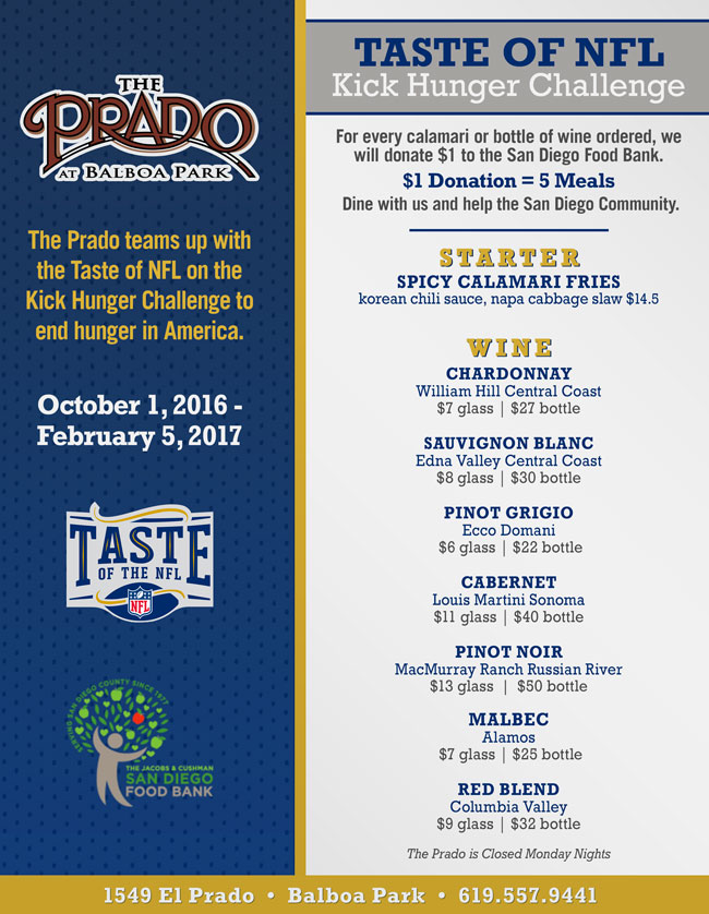 The Prado Amp Taste Of Nfl Team Up To Kick Hunger Cohn