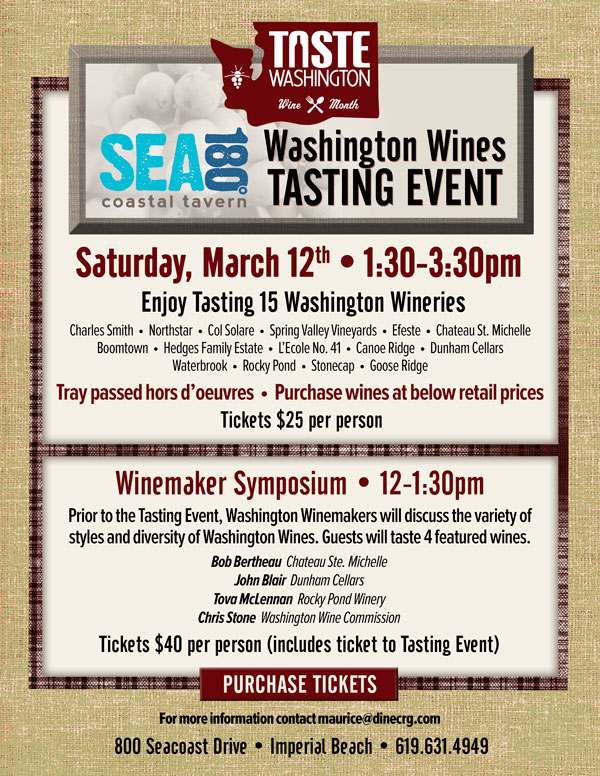 SEA180's Washington Wines Tasting Event - Cohn Restaurant Group