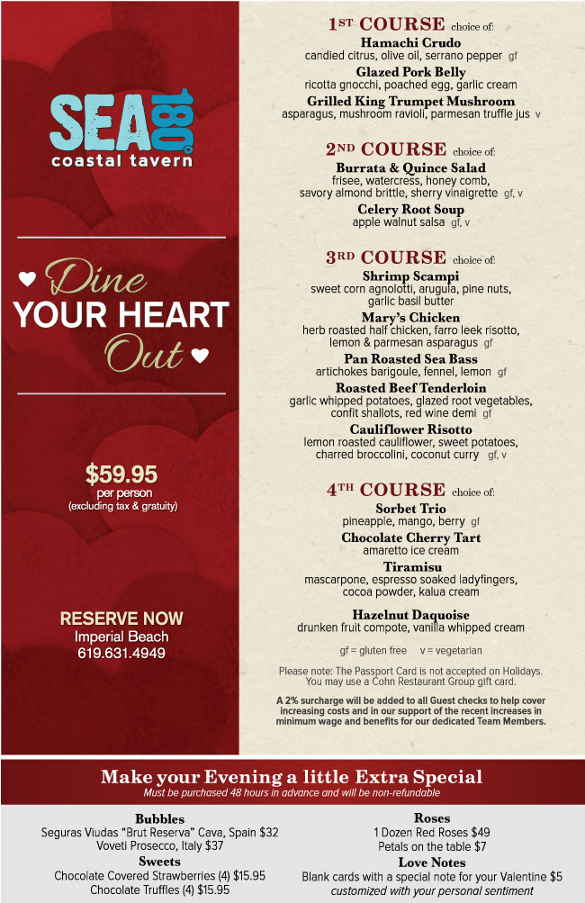 sea180s valentines day menu