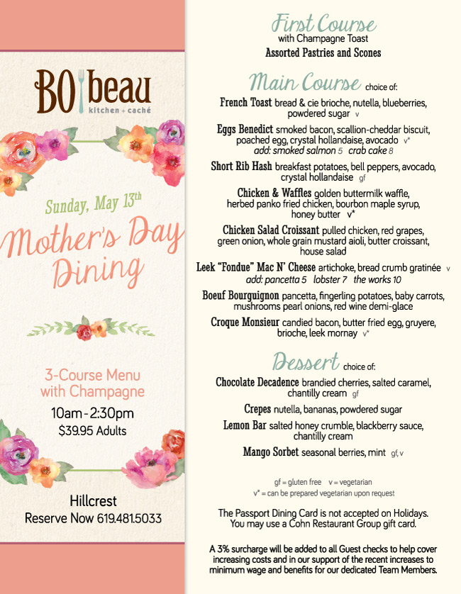 Xo Cafe Mother S Day Brunch