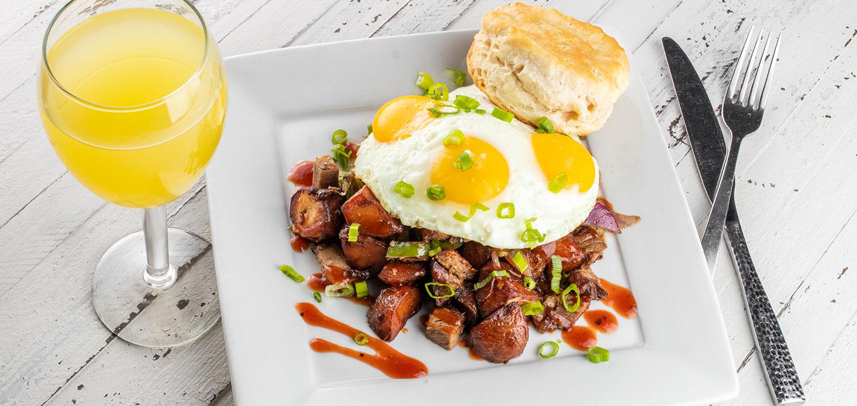 eggs and breakfast potatoes
