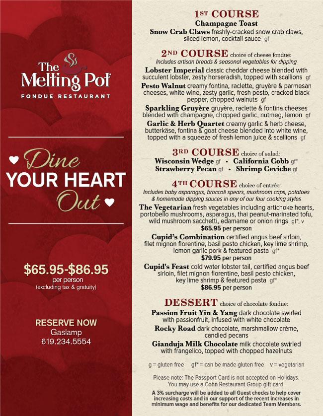 graphic relating to Melting Pot Coupons Printable named Meltin pot menu - Moroccan food stuff dishes