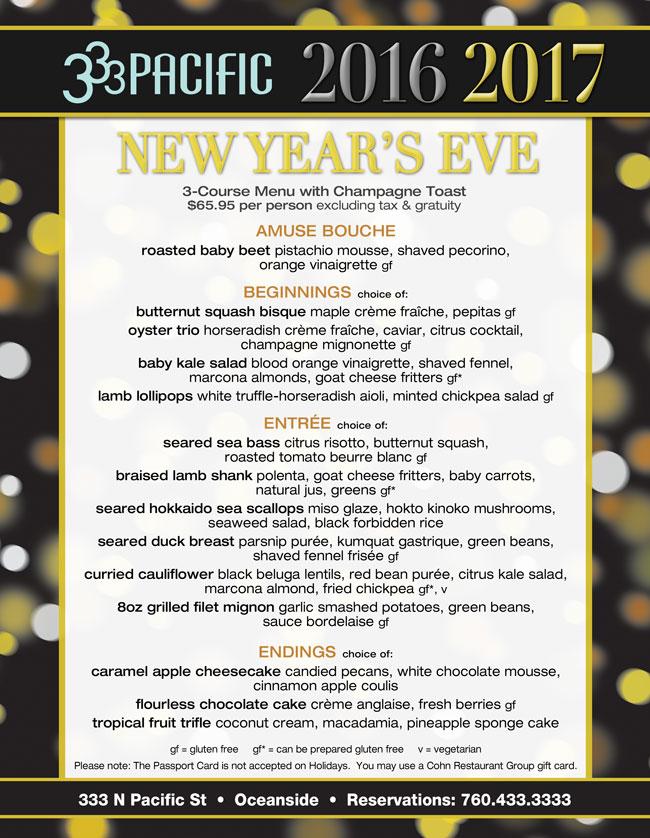 Restaurants Open For New Years Eve