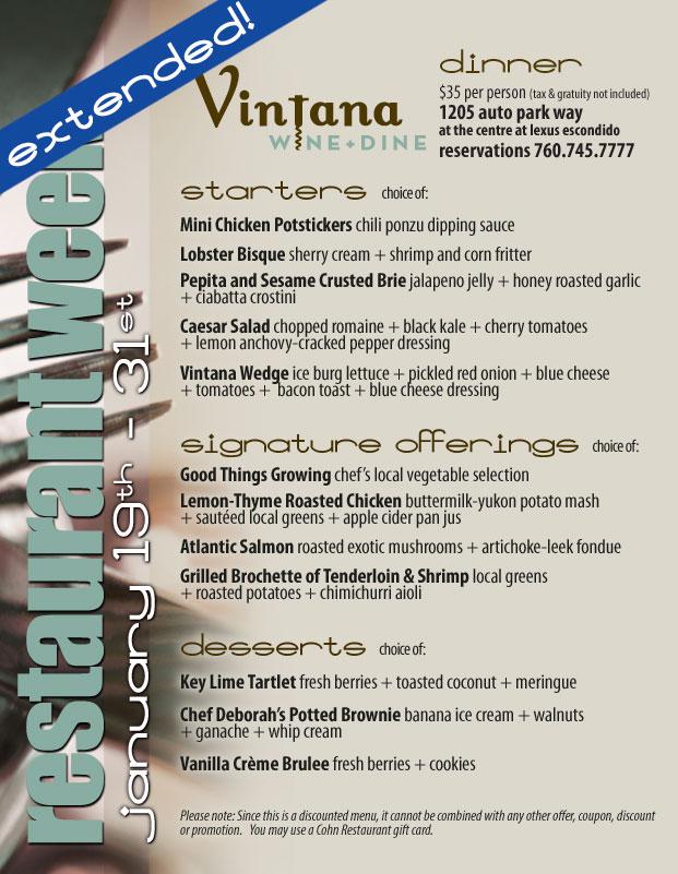 new balance shoes coasterra restaurant week menu