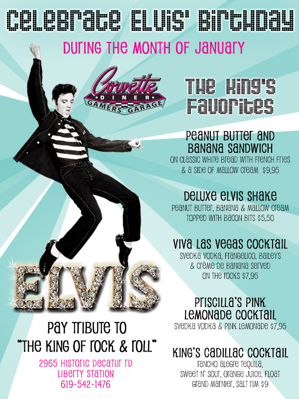 Celebrate Elvis Birthday At Corvette Diner Cohn