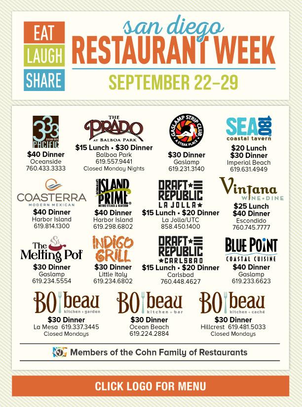 San Diego Restaurant Week Promo Image