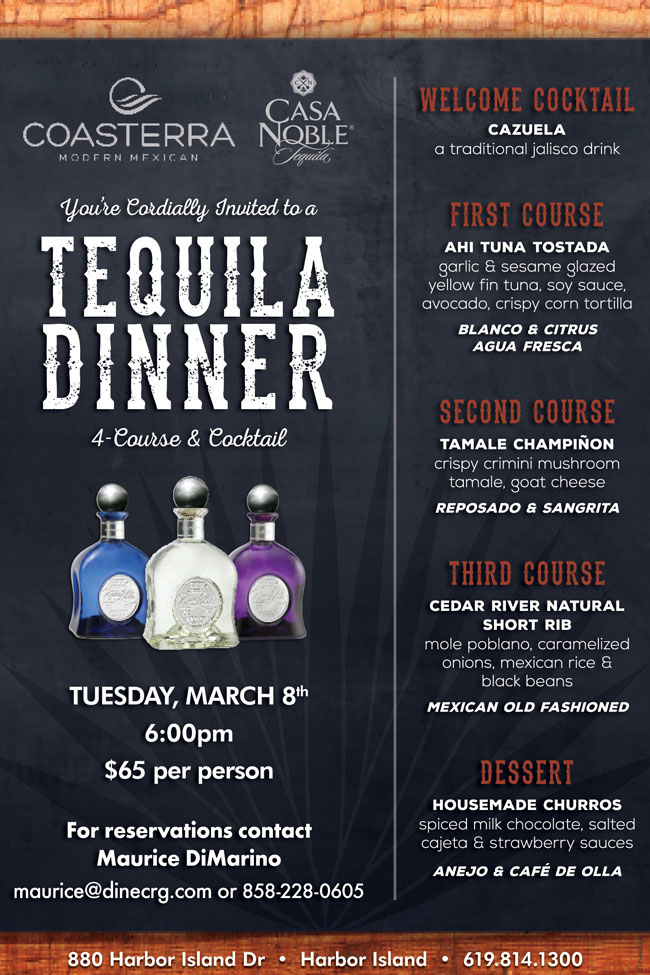 Casa Noble Tequila Dinner At Coasterra Cohn Restaurant Group