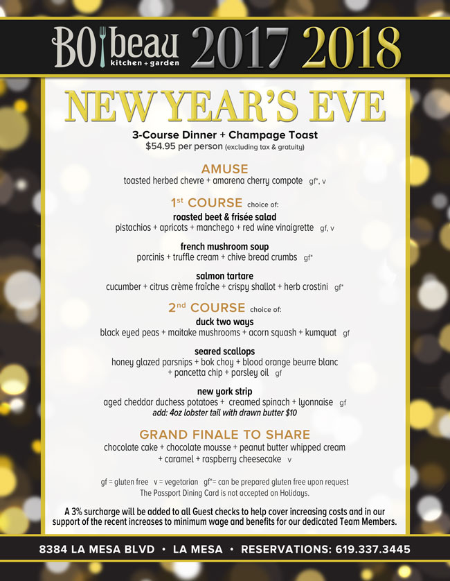 New Year S Eve At Bo Beau Kitchen Garden Cohn