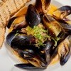 Roasted Black Mussels
