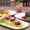 Beet Salad, Red Wine Braised Short Rib, Mary's Chicken