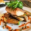 Mustard-Balsamic Glazed Skuna Bay Salmon
